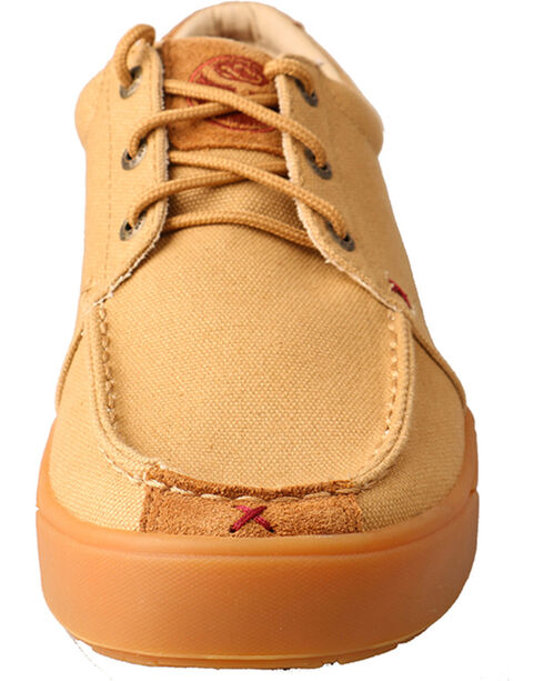 Hooey Lopers by Twisted X Men's Khaki Canvas Shoes , Tan, hi-res