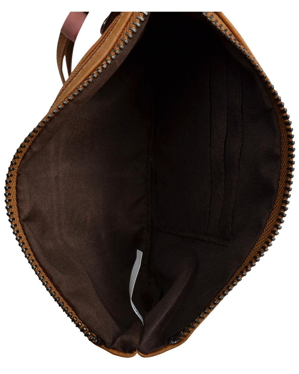 Angel Ranch Women's Tan Faux Leather Wristlet , Tan, hi-res