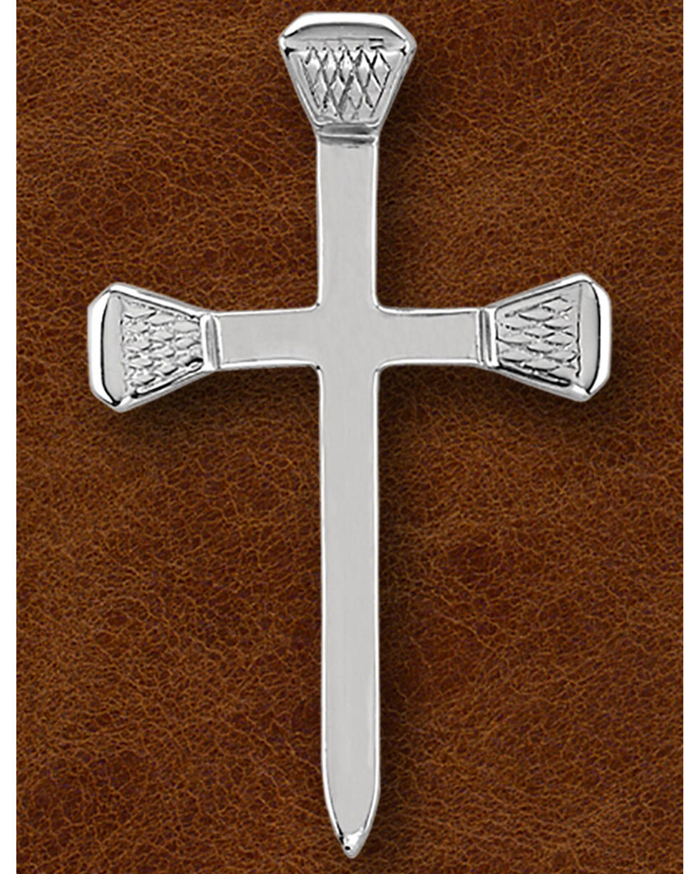 Kelly Herd Women's Sterling Silver Nail Cross Necklace, Silver, hi-res