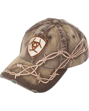 Ariat Barbed Wire Ballcap, Brown, hi-res