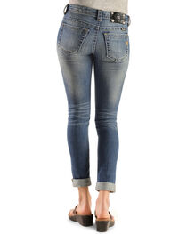 Miss Me Distressed Cuffed Skinny Jeans, , hi-res