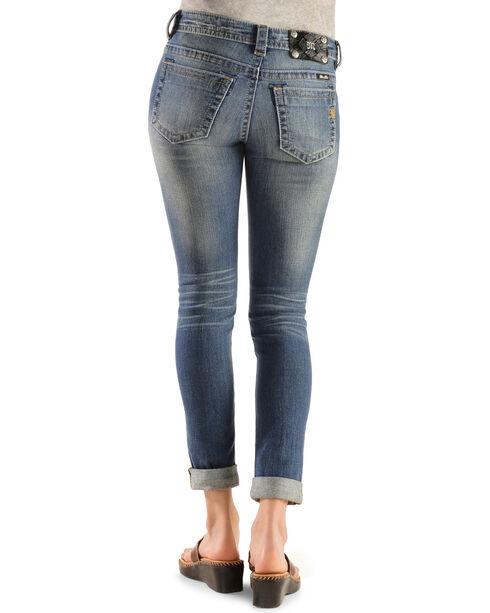 Miss Me Distressed Cuffed Skinny Jeans, Denim, hi-res