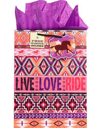 BB Ranch® Live Love Ride Gift Bag with Tissue Paper, , hi-res