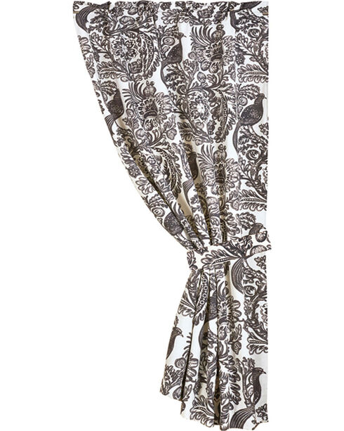HiEnd Accents Augusta Toile Curtain, Black, hi-res