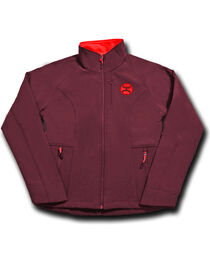 Hooey Women's Dark Red Fleece Lined Jacket , Dark Red, hi-res