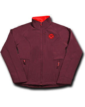 Hooey Women's Dark Red Fleece Lined Jacket , Dark Red, hi-res