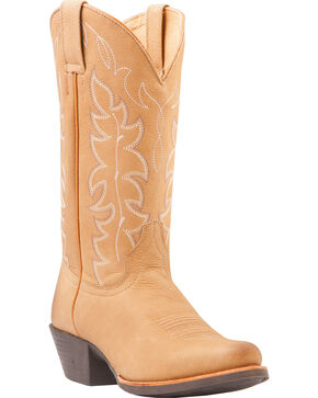 Shyanne Women's Embroidered Performance Boots - Round Toe, Brown, hi-res