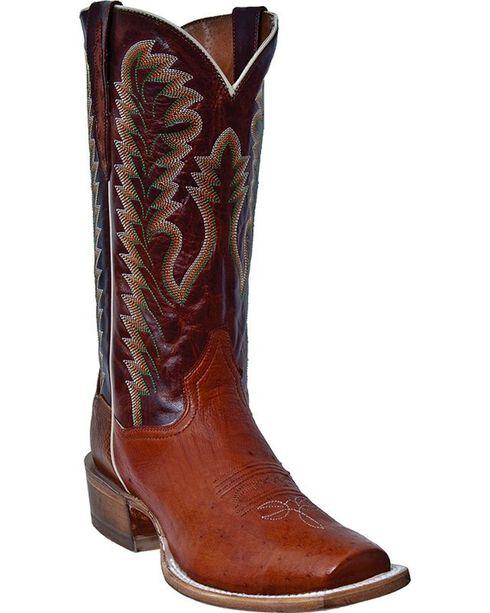 Laredo Men's Carson Western Boots, Cognac, hi-res