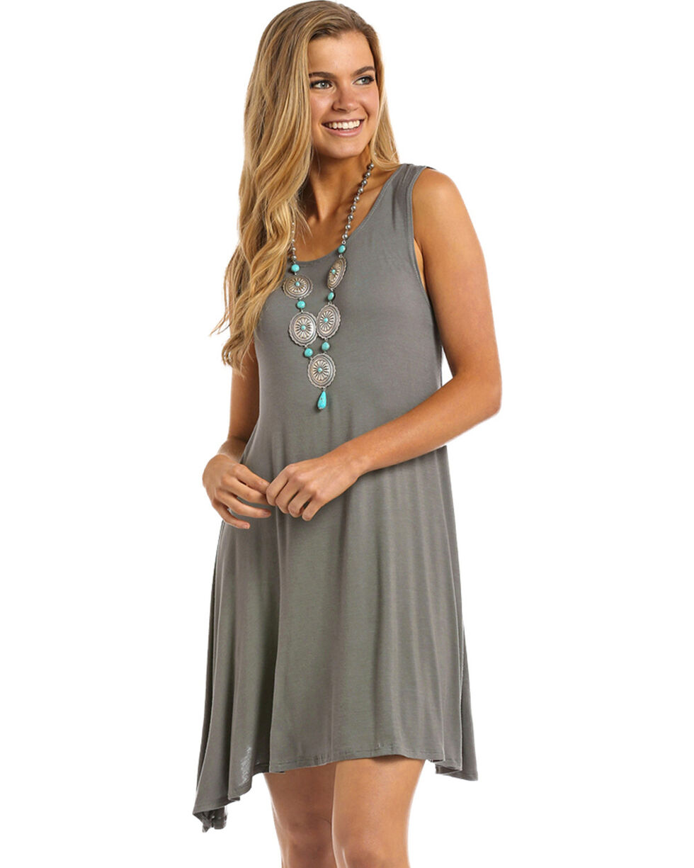 Panhandle Women's Knit Tank Dress, Grey, hi-res