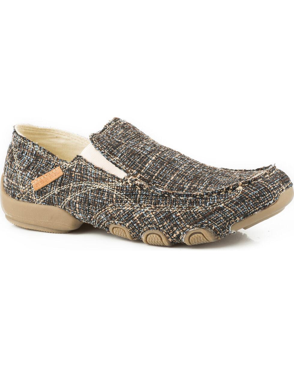 Roper Men's Brown Dougie Casual Driving Moc Shoes , Brown, hi-res
