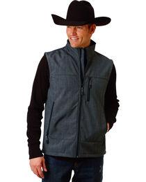 Roper Men's Grey Bonded Fleece Vest , , hi-res