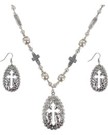 Shyanne® Women's Cut-out Cross Jewelry Set, , hi-res