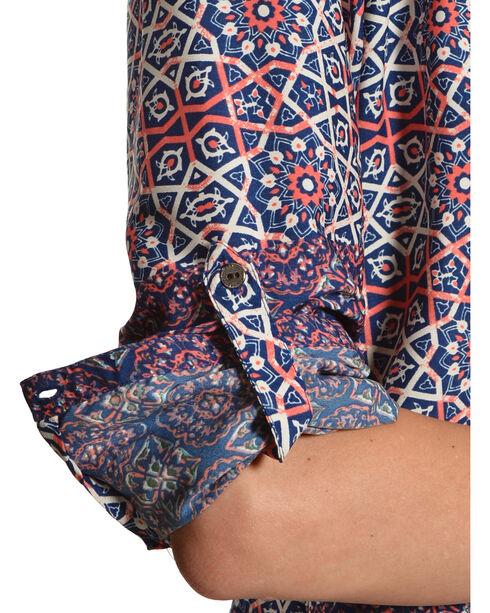 Tantrums Women's Roll Sleeve Printed Shirt, Print, hi-res
