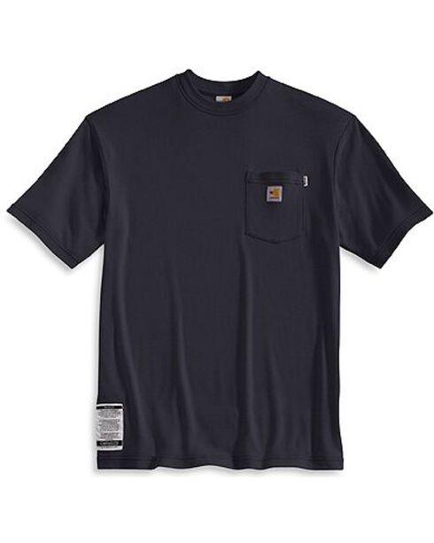 Carhartt Men's Flame Resistant Short Sleeve T-Shirt, Navy, hi-res