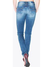 Grace in LA Women's Medium Wash Plain Pocket Skinny Jeans  , , hi-res