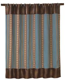 HiEnd Accents Ruidoso Blue Striped Shower Curtain, , hi-res