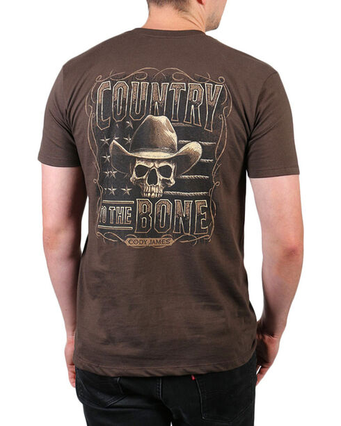 Cody James® Country to the Bones Short Sleeve T-Shirt, Chocolate, hi-res