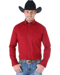 Wrangler 20X Men's Classic Solid Long Sleeve Shirt, , hi-res