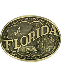 Montana Silversmiths Florida State Belt Buckle, , hi-res