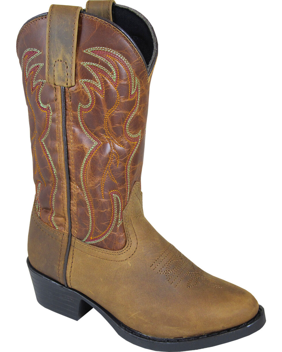 Smoky Mountain Youth Boys' Tonto Western Boot - Round Toe, Brown, hi-res