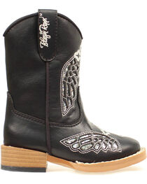 Blazzin Rocks Girls' Gracie Wing Cross Zip Boot, , hi-res