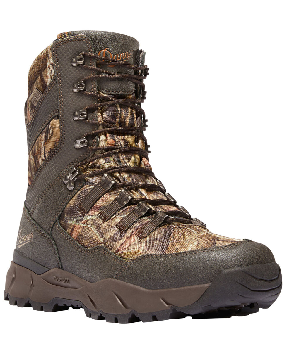 """Danner Men's Mossy Oak Vital 8"""" Lace-Up Waterproof 1200G Insulated Boots - Round Toe, Camouflage, hi-res"""