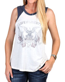 Others Follow Women's Life And Liberty Muscle Tank, Ivory, hi-res