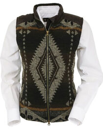 Outback Trading Co. Women's Brown Aztec Maybelle Vest , , hi-res