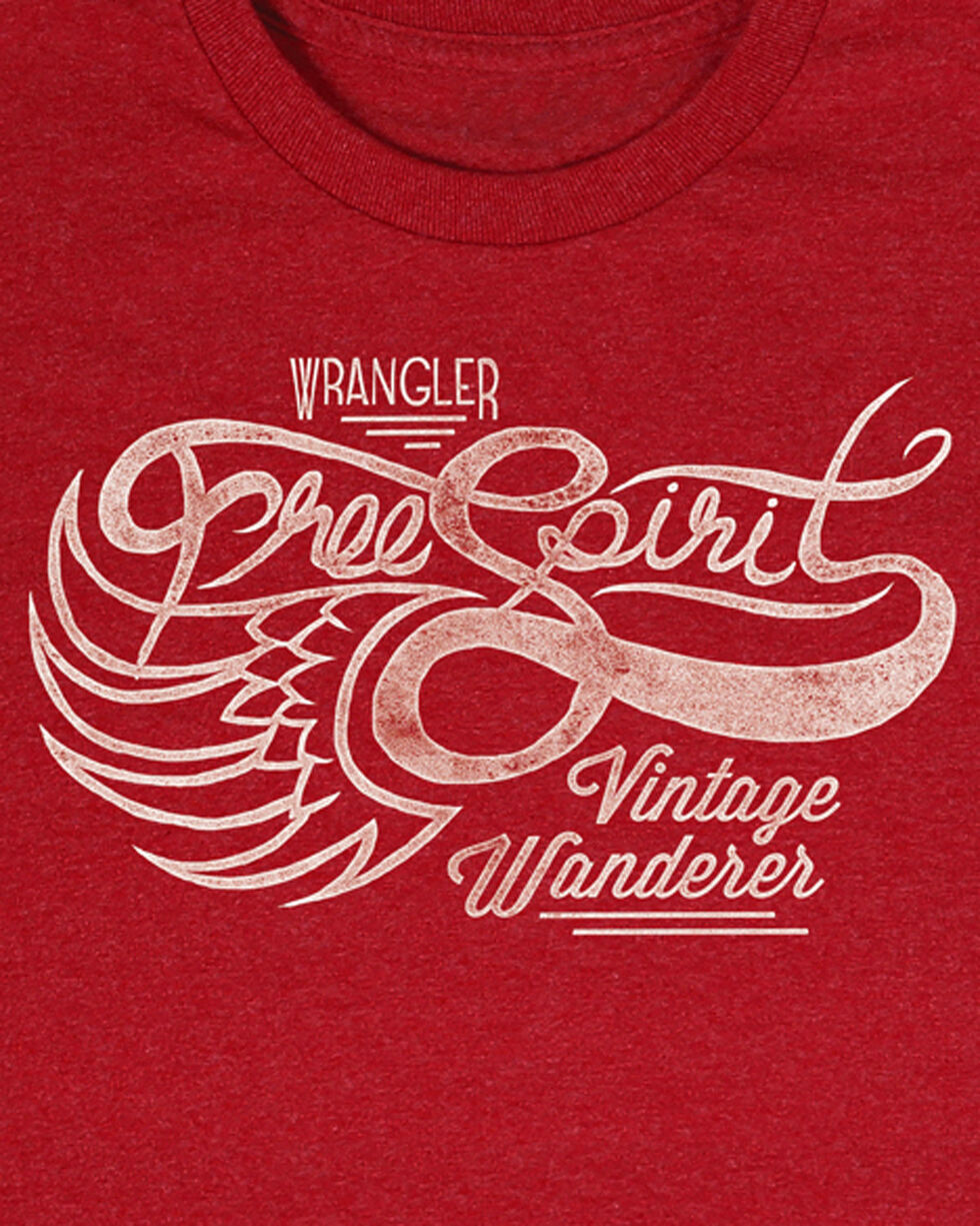 Wrangler Men's Red Vintage Wanderer Tee , Heather Red, hi-res
