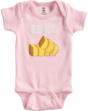 Hers 'N Spurs Infant's Hay Girl Onesie, Pink, hi-res