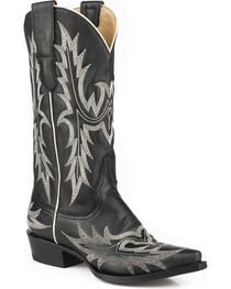 Stetson Women's Tina Flame Pita Embroidery Western Boots - Snip Toe, , hi-res