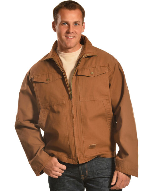 Forge Workwear Men's Brown Canvas Concealed Carry Jacket , Pecan, hi-res