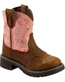 Justin Kid's Gypsy Flower Western Boots, , hi-res