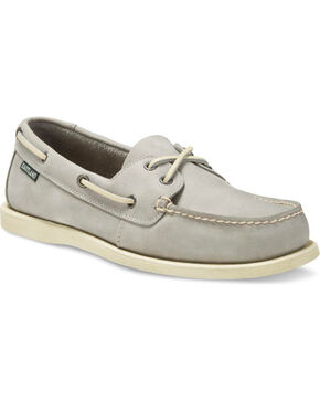 Eastland Men's Seaquest Leather Boat Shoes - Moc Toe, Grey, hi-res