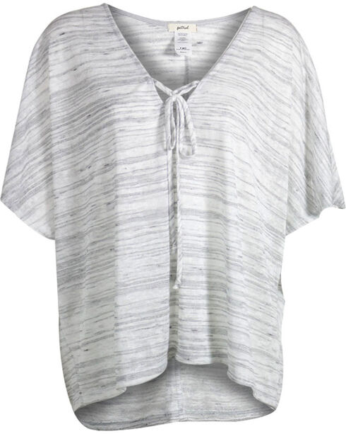 Petrol Women's Heathered Short Sleeve Poncho, Grey, hi-res