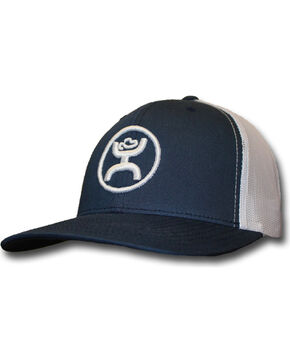 HOOey Men's Logo Embroidered Trucker Cap, Navy, hi-res