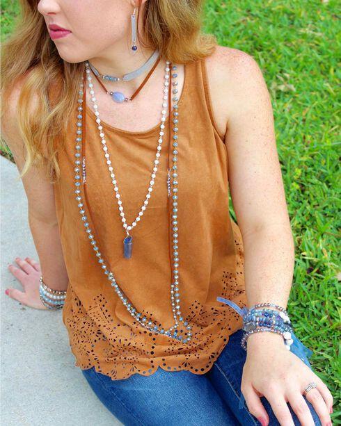 2 Queen B's Women's Blue Bracelet and Earrings Jewelry Set , Blue, hi-res
