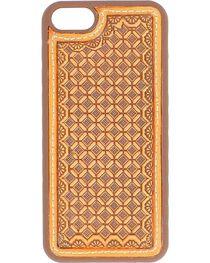 Nocona Tooled Waffle Weave Leather iPhone 5 Phone Case, , hi-res