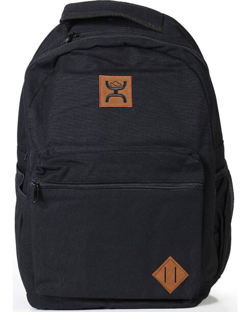 HOOey Men's Logo Solid Backpack, Black, hi-res