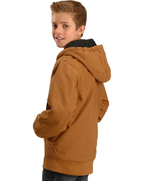 Carhartt Boy's Duck Active Jacket, Brown, hi-res
