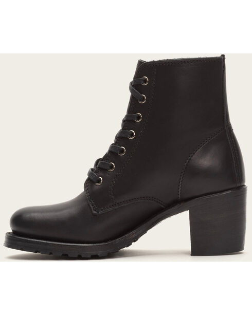 Frye Women's Sabrina 6G Lace Up Boots - Round Toe , Black, hi-res