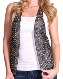 Rock & Roll Cowgirl Women's Studded Rocker Vest, , hi-res