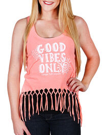 "Cowgirl Tuff Women's ""Good Vibes Only"" Tank Top, , hi-res"