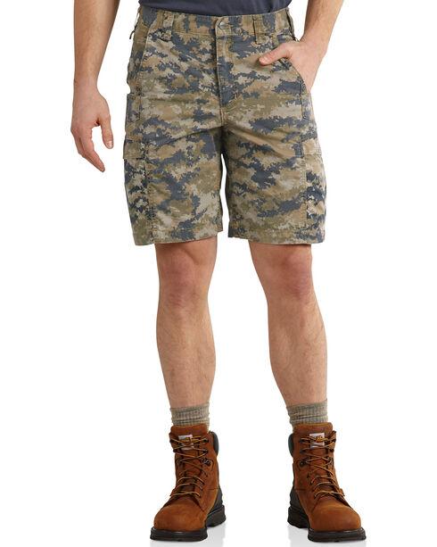 Carhartt Men's Mosby Digital Camo Cargo Shorts, Brown, hi-res