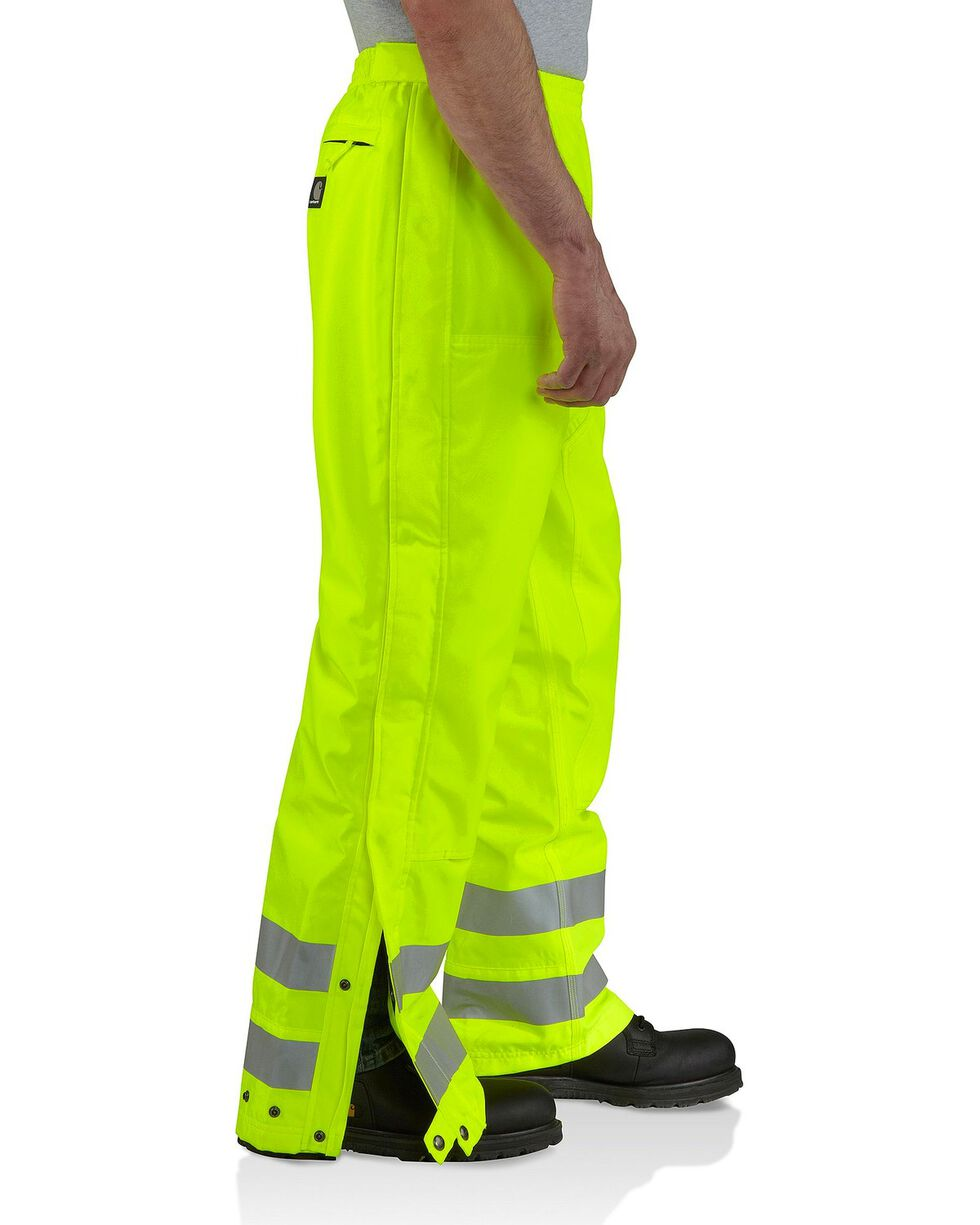 Carhartt Men's High Visibility Class 3 Work Pants, Lime, hi-res