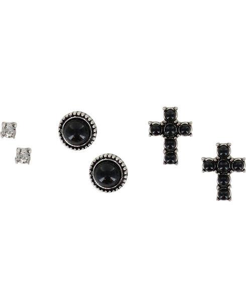 Shyanne® Women's Trio Earring Set, Silver, hi-res