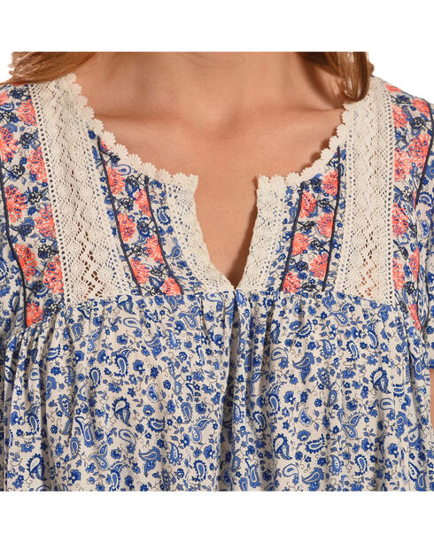 Flying Tomato Daisy Sweetheart Top , Blue, hi-res