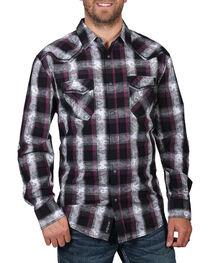 Moonshine Spirit® Men's Paisley Plaid Long Sleeve Shirt, , hi-res