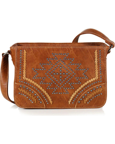 Montana West Women's Southwestern Collection Messenger Bag, Brown, hi-res