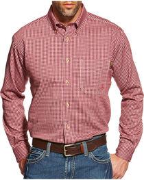 Ariat Flame Resistant Wine Plaid Work Shirt - Big & Tall, , hi-res